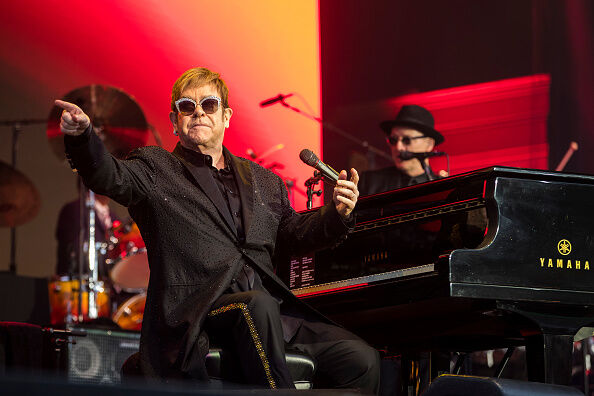 Elton John Performs in Concert in Stockholm