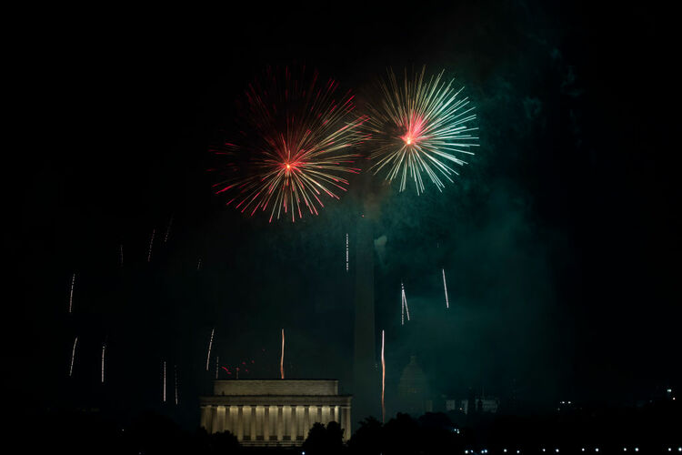 4th Of July Celebrated In Washington, D.C. With Annual Fireworks Display
