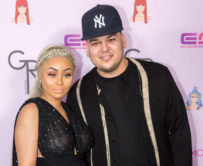 Blac Chyna and Rob Kardashian.