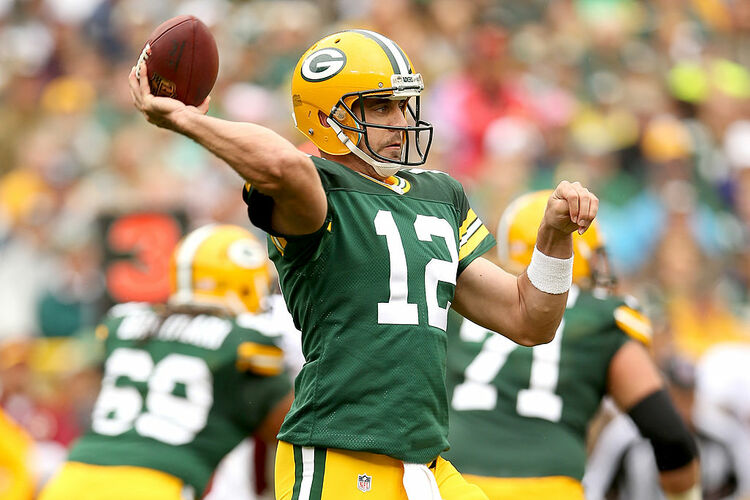 Washington Redskins V Green Bay Packers Aaron Rodgers
