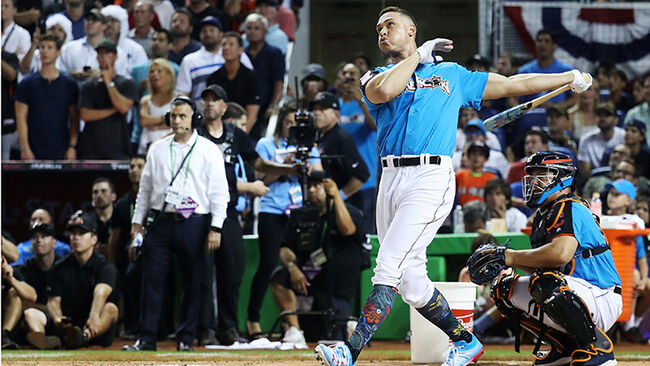 check out 050b0 8e267 Aaron Judge Dominates In Home Run Derby | Mix 95-7