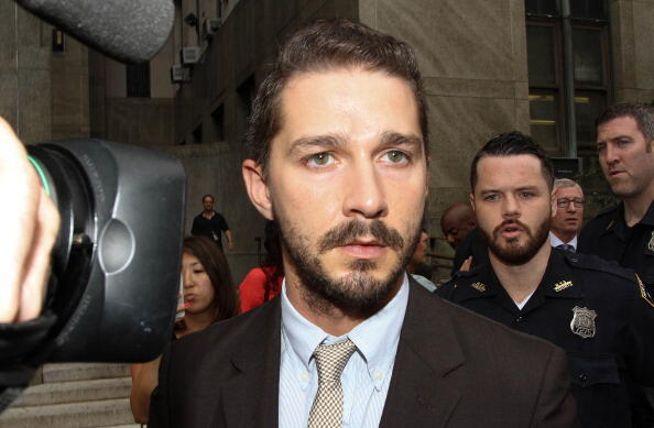 NEW YORK, NY - JULY 24:  Shia LaBeouf leaves criminal court on July 24, 2014 in New York City.  (Photo by Rob Kim/Getty Images)