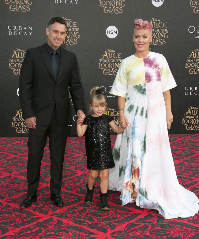 P!nk with Carey Hart and their daughter, Willow Sage Hart