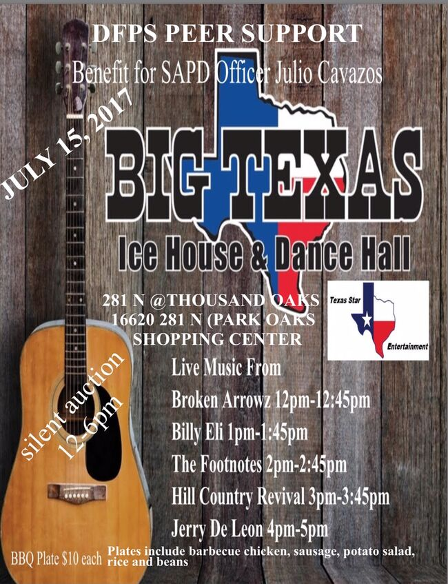 Benefit for SAPD Officer Julio Cavazos