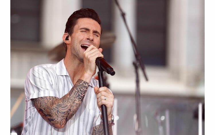 TODAY -- Pictured: Adam Levine of Maroon 5 appears on NBC News'