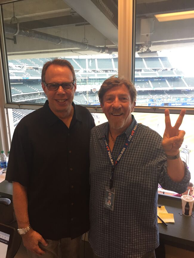 Howie Rose and Ken Dashow at Citi Field