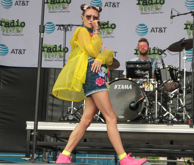 Misterwives at the July 2017 Block Party