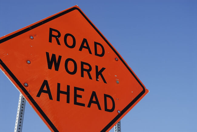 Road Work Construction Sign Getty RF