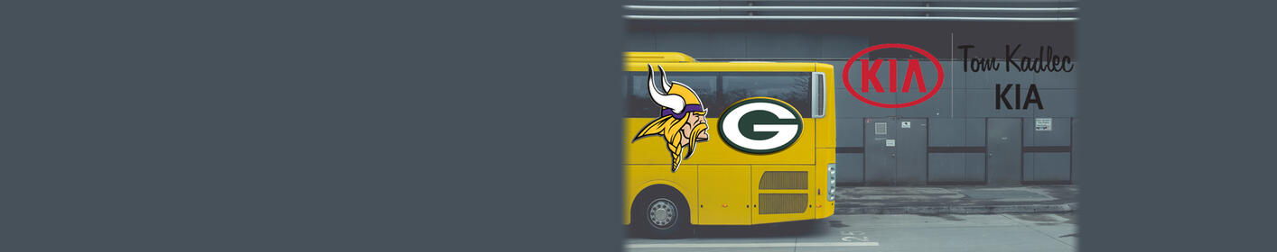 Jump on the Tom Kadlec Kia Bus to Lambeau Field for MN/GB Game!