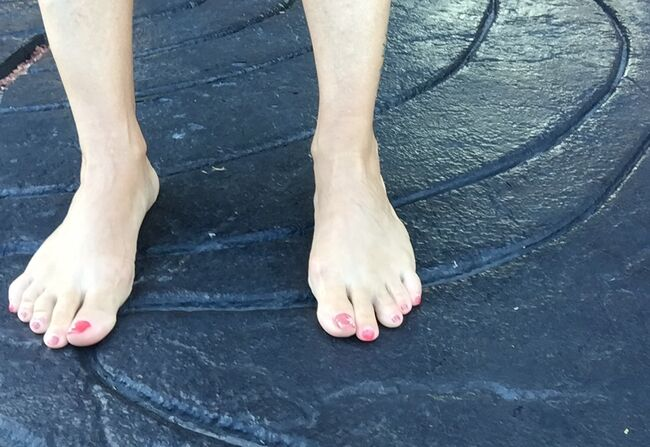 pictures of women with big feet