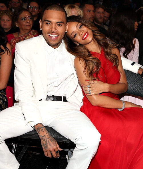 Chris Brown and Rihanna - Getty Images
