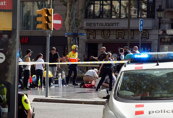 Thirteen Dead And Dozens Injured As Van Hits Crowds in Barcelona's Las Ramblas Area