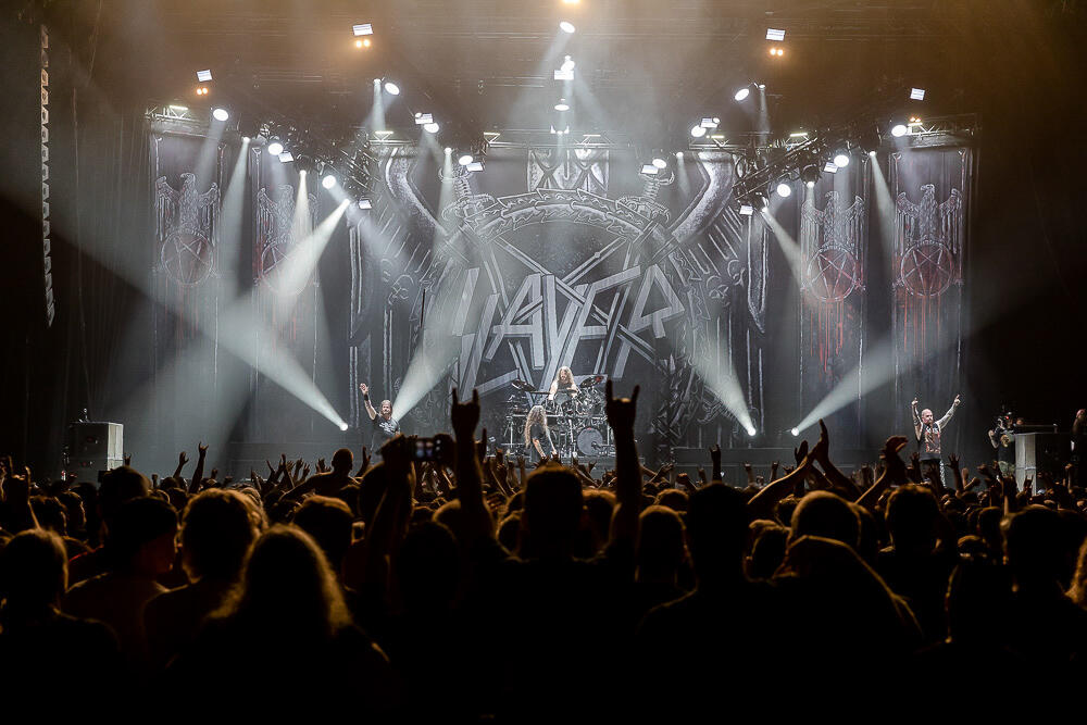 Slayer at WaMu Theater with Lamb of God and Behemoth. Photos By: Neil Lim Sang