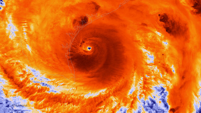 Harvey NOAA Infrared Image Getty Images