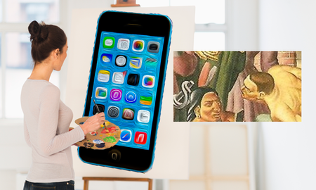 Weird News - Cell Phone In A Painting from 1933? There's Also Older Art With iPhones!