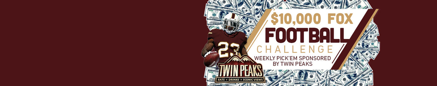 Fox Football Challenge: Win $10,000 Plus Weekly Prizes From Twin Peaks