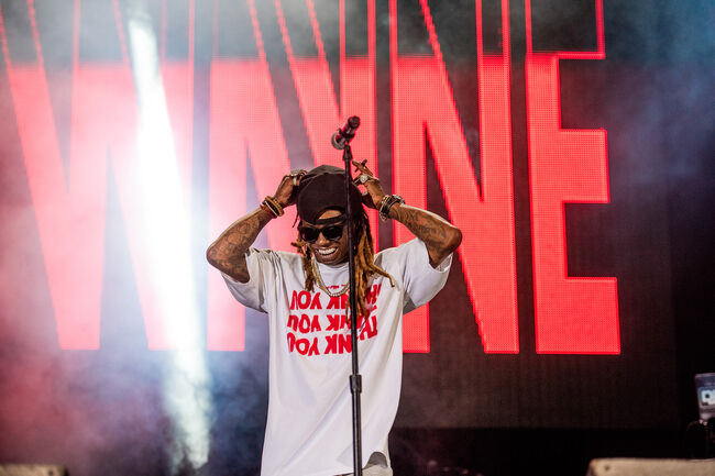 Gucci Mane and Lil Wayne from Lil Weezyana Fest on 8/25 in Nola
