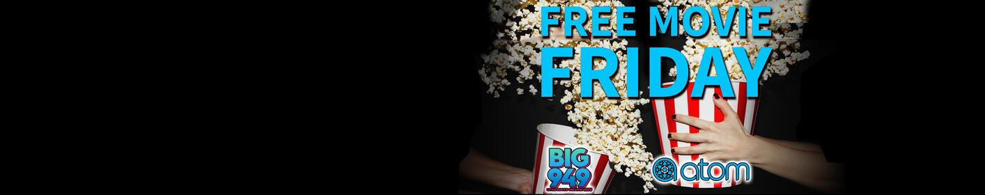 Text the word DIZZY to 28661 every Friday for your chance to win free movie tickets!