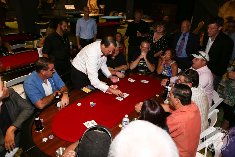 Photos from the floor of the Philips Phile Poker Tournament
