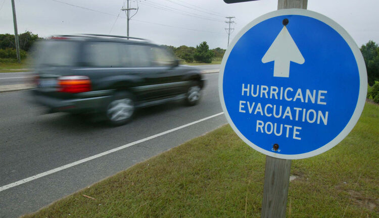 Hurricane Evacuation Rouge Sign Getty Images