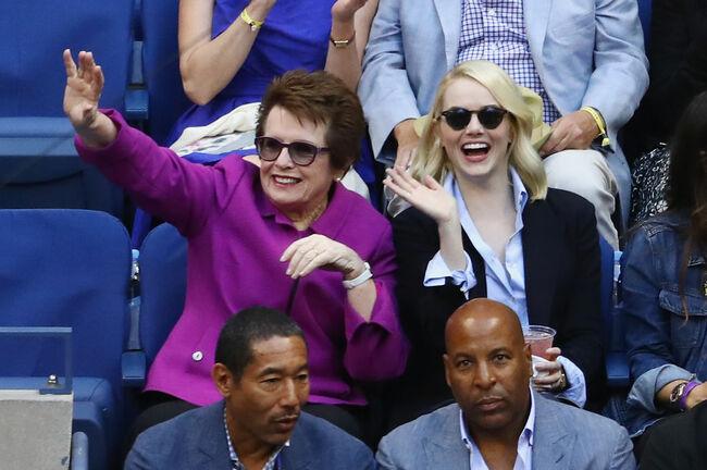 Billie Jean King & Emma Stone