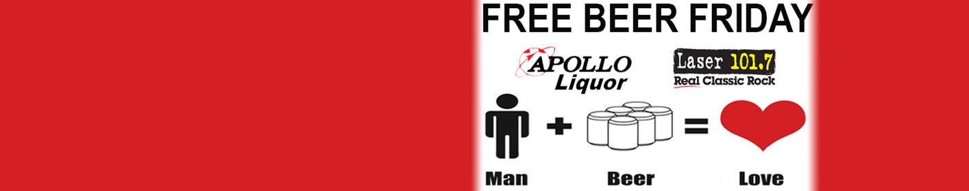 Free Beer Friday are Back from Apollo Liquor!