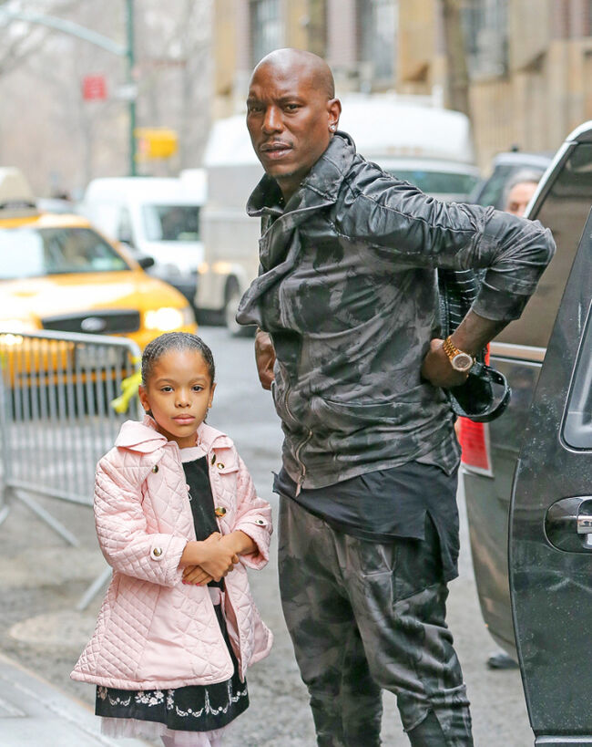 Tyrese and Daughter