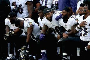 NFL Players Defy Trump, Take Knee During National Anthem