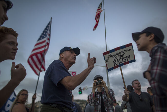 Laguna Beach immigration protest Getty Images