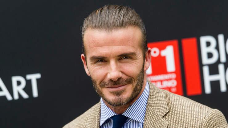 David Beckham Suprises Vaccine Site