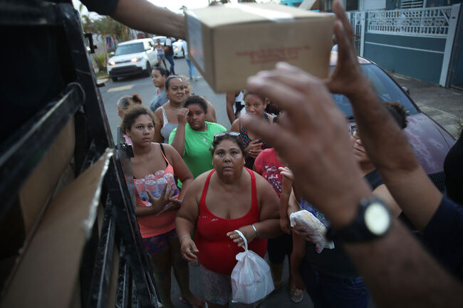 Hurricane relief aid Puerto Rico Getty Images
