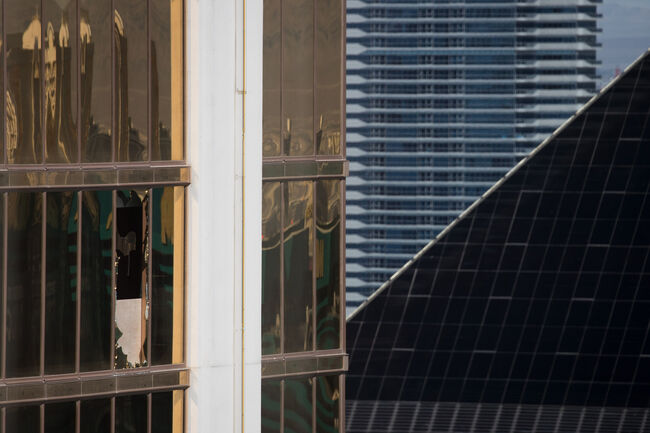 Mandalay Bay Hotel Window Las Vegas Gunman Used Getty Images