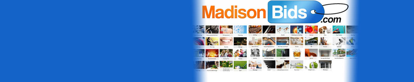MadisonBids.com has aucitons LIVE right now! Bid now until Thursday at 7pm on dozens of items!