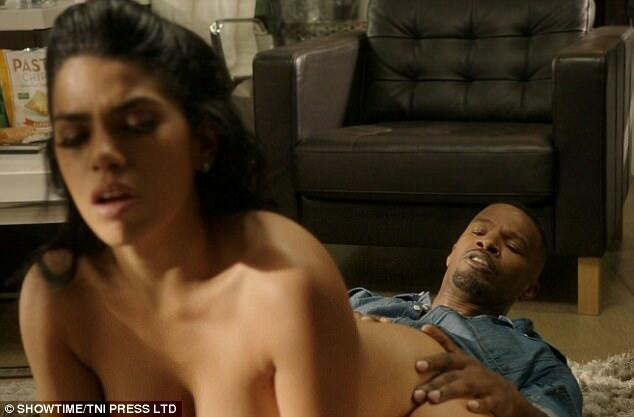 Jamie Foxx Filming Sex Scene For Showtime Comedy Series -6616