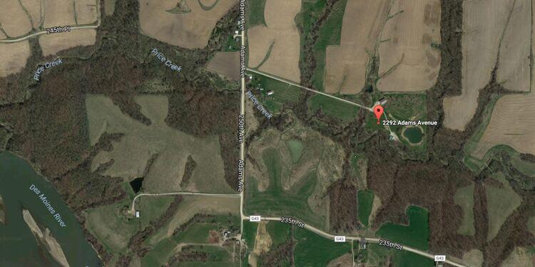 2292 Adams Avenue, rural Leighton, Iowa Google maps