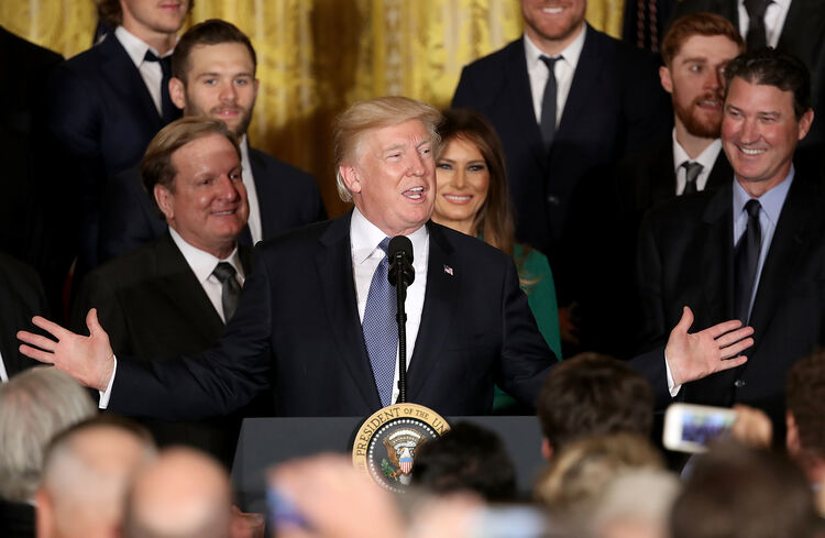 President Trump Welcomes NHL Champion Pittsburgh Penguins To White House
