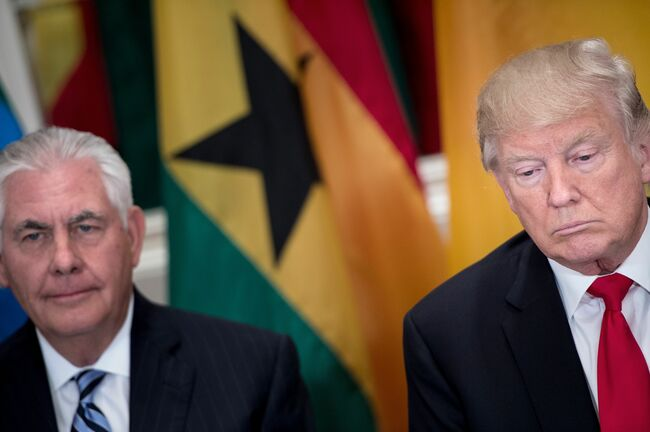 Rex Tillerson and President Trump Getty Images