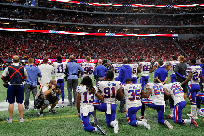 NFL players national anthem protests Getty Images