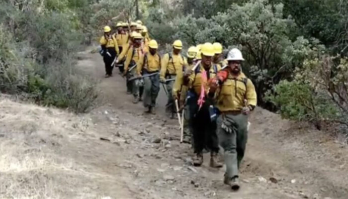 Firefighters Sing Stirring Hymn as They March in to Battle Wildfires on STAR 94.1