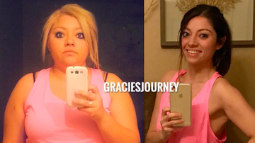 image for Weight Loss Influencer Gracie Borst Surprises Fan With Motivational Gift