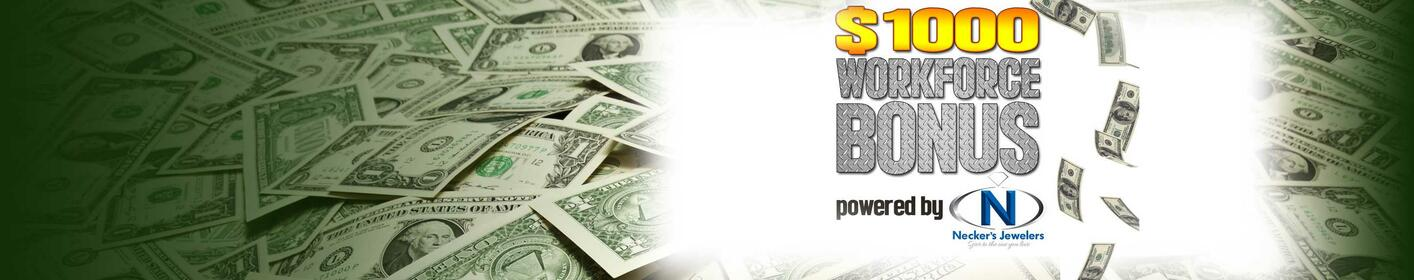 Listen to win $1000 EVERY HOUR starting at 5am weekdays!