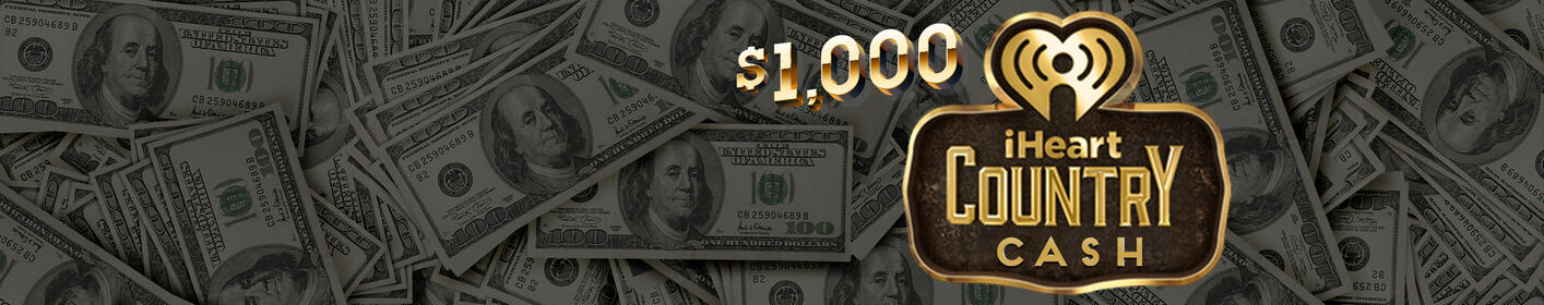 16 chances a day to win $1000 iHeartCountry cash!