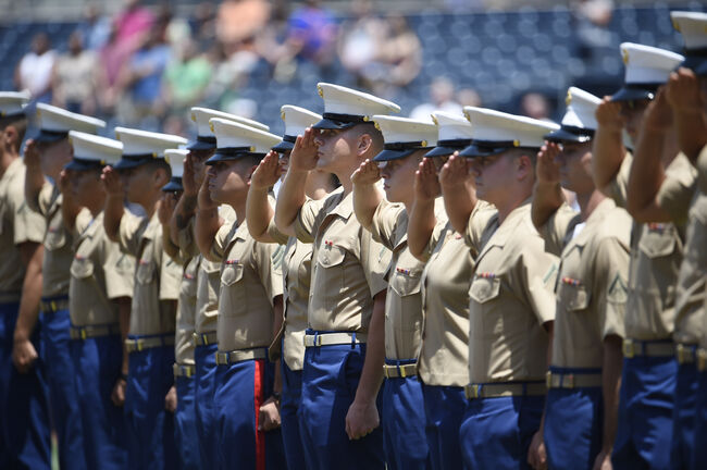 Marines Salute in San Diego