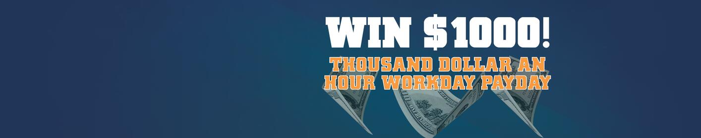 Win $1000 with 95.7 The Jet!