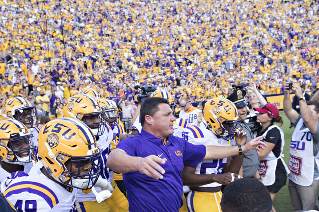 LSU Football Ed Orgeron Getty Images