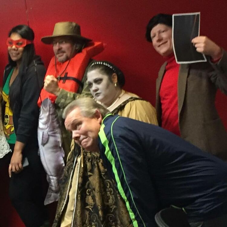 The other half of our iHeart Spokane Halloween crew!