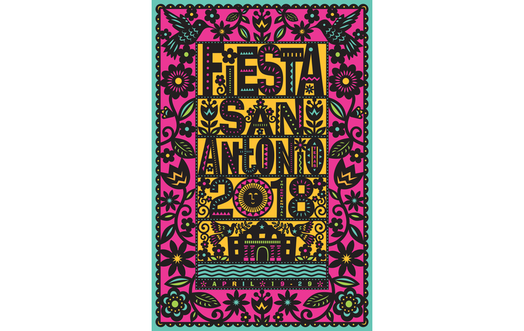 The Official 2018 San Antonio Fiesta Poster