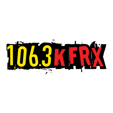 106.3 KFRX logo