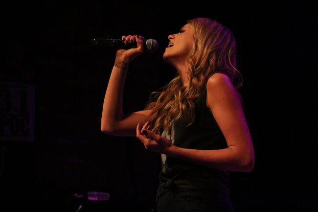 Carly Pearce performing at Rams Head Live for Fall Country Nights