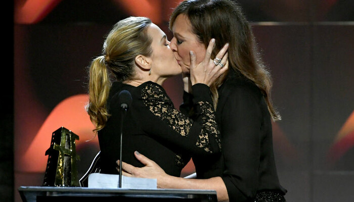 Kate Winslet Is 'Left Breathless' After Kissing Allison Janney On Stage on STAR 94.1